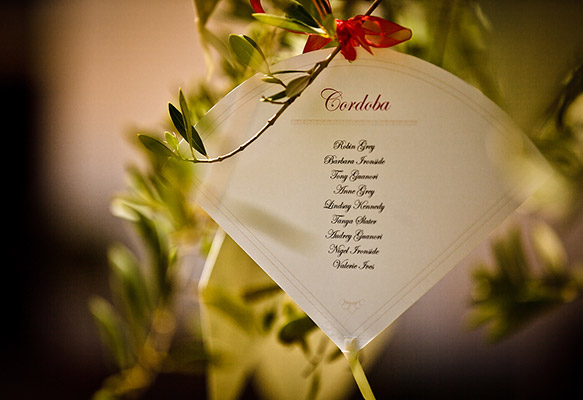 Fan-shaped Wedding Table Plan
