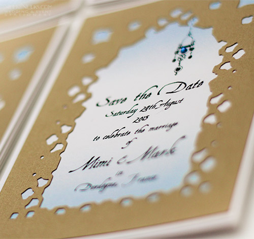 Layered Card Moroccan Wedding Invitations