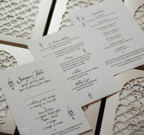 Pocket-style Moroccan Wedding Invitations