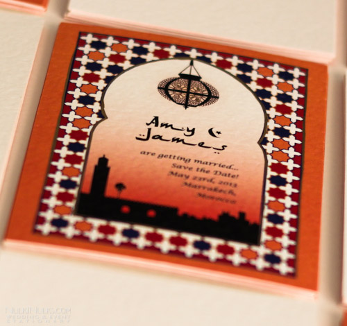 Printed Moroccan Wedding Invites