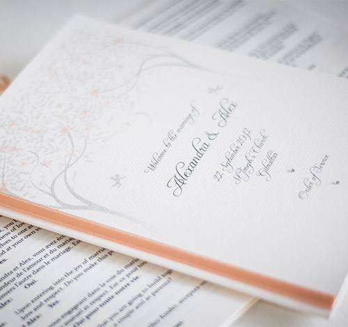 Wedding Program and Order of Service