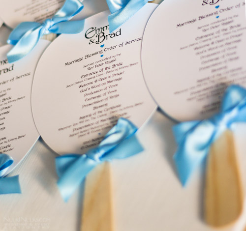 Wedding Order of Service Paddle Fans