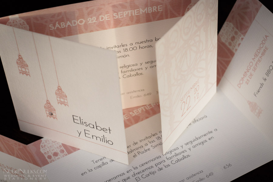 Two-fold Wedding Invitations