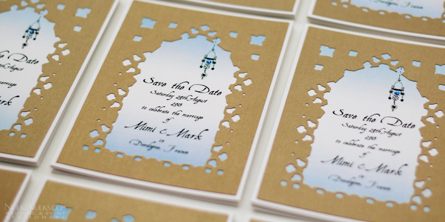 Moroccan Cutout Wedding Invitations