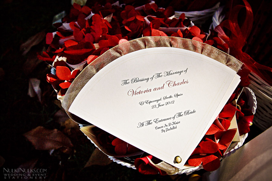 Fan-shaped Wedding Order of Service