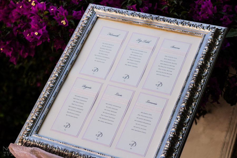 Individual Cards Wedding Seating Plan