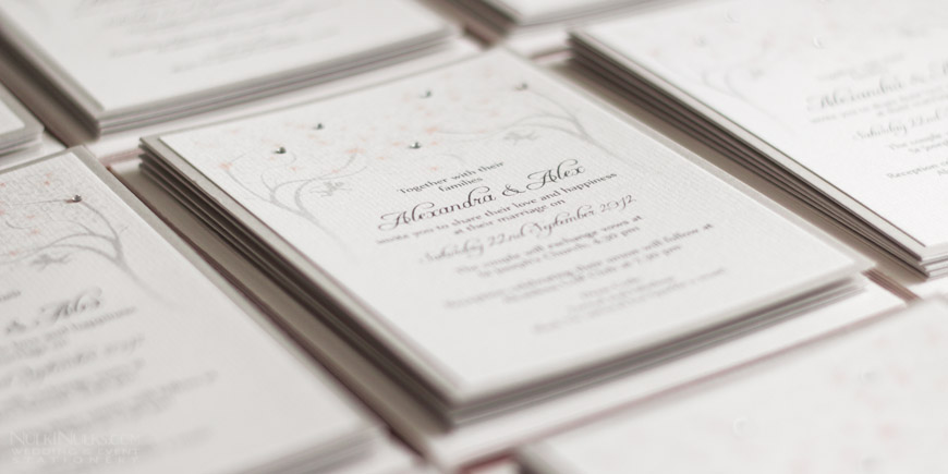 Simple and Elegant Wedding Invitation