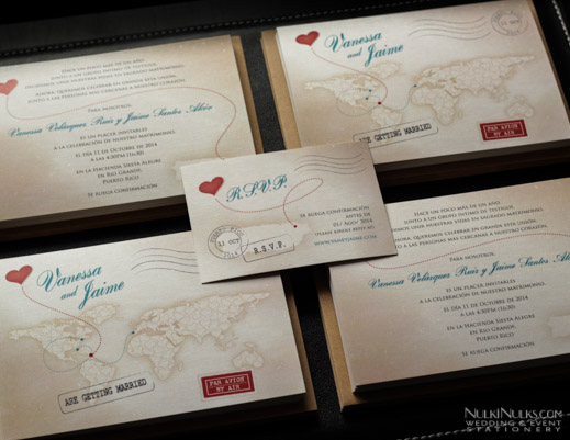 Destination-themed Wedding Invitations