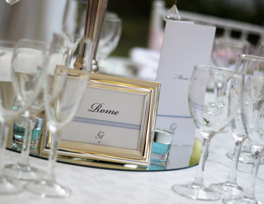 Elegant Wedding Table Name and Menu