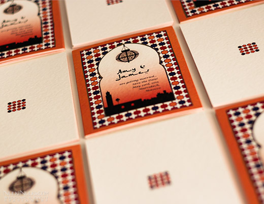 Save the Date Wedding cards with Moroccan theme