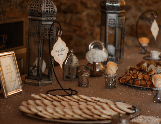 Wedding Dessert Table in Moroccan theme