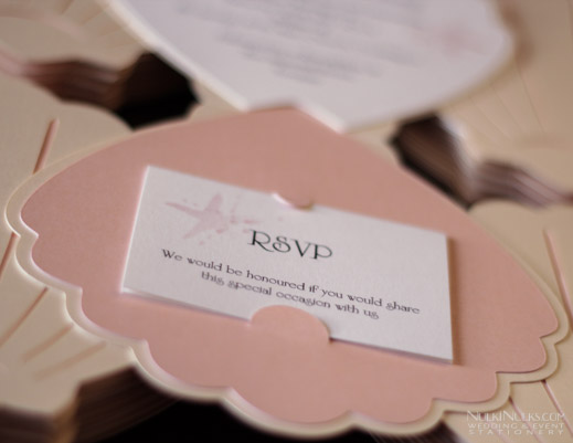 Shell-shaped Wedding Invitations