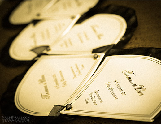 Wedding Fan Invitations in Russian language