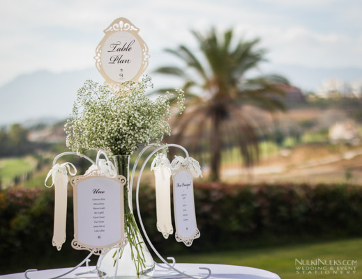 Wedding Table Plan in Marbella